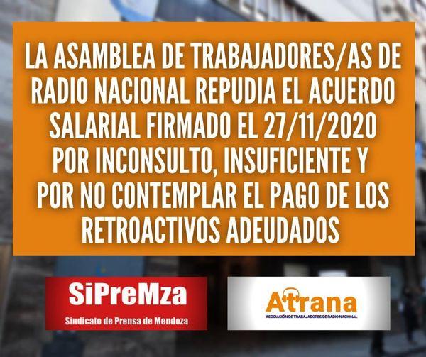 RESOLUCIONES DE LA ASAMBLEA GENERAL DE TRABAJADORES DE RADIOS NACIONALES DE TODO EL PAÍS.