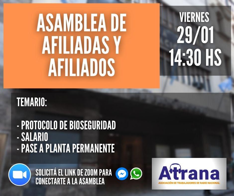 ASAMBLEA DE AFILIADAS/OS